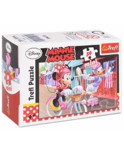 Mini puzzle Trefl de 54 piese - Minnie Mouse si Daizy