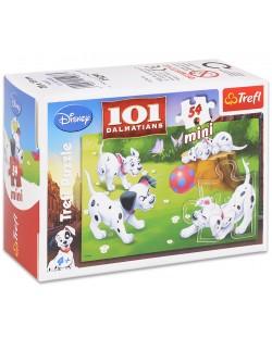 Mini puzzle Trefl de 54 piese - 101 Dalmatienii