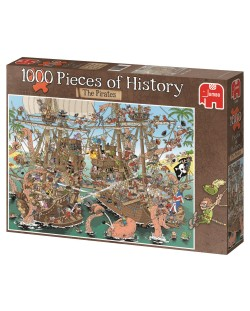 Puzzle Jumbo de 1000 piese - Bucati de istorie - Pirati, Derks