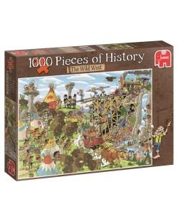 Puzzle Jumbo de 1000 piese - Bucati de istoria, Vestul Salbatic