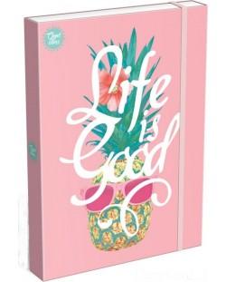 Cutie cu elastic  Lizzy Card A4 - Life is Good, Good Vibes