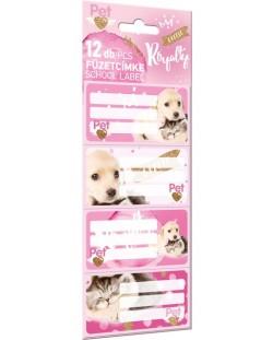 Etichete scolareLizzy Card - Little Friends, 12 bucati