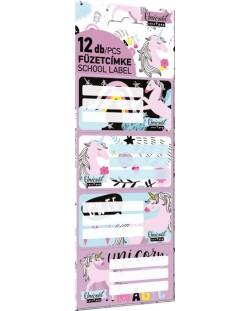 Etichete scolare Lizzy Card - Uni Cool Magic, Lollipop , 12 bucati