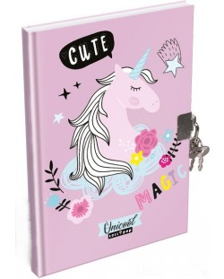 Jurnal secret cu lacat Lizzy Card - Uni Cool Magic, format А5