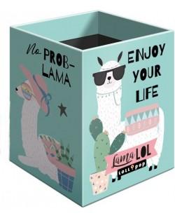 Suport pentru creioane Lizzy Card – Lama LOL, Lollipop