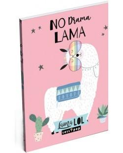 Carnetel Lizzy Card- Lama LOL, format A7
