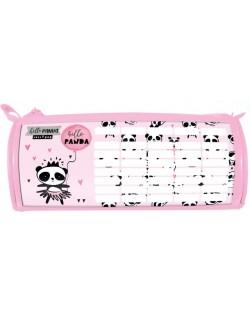 Penar scolar oval Lizzy Card - Hello Panda, cu orar