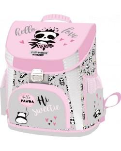 Ghiozdan scolar ergonomic Lizzy Card - Hello Panda Lollipop, Premium