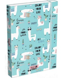 Cutie cu elastic Lizzy Card A4 –Lama LOL, Lollipop
