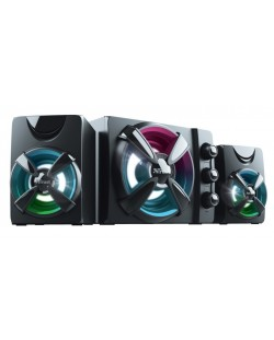 Sistem audio Trust - Ziva, RGB, 2.1, negru