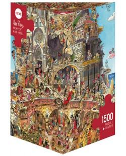 Puzzle Heye de 1500 piese - Iad si rai, Hugo Prades