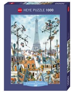 Puzzle Heye de 1000 piese - Turnul Eiffel, Jean-Jacques Loup