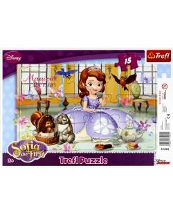 Puzzle Trefl de 15 piese - Party ceaiul Sofiei