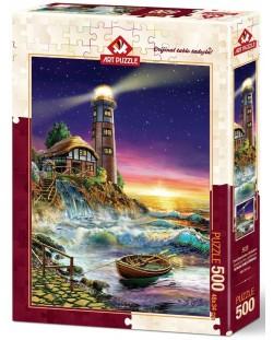 Puzzle Art Puzzle de 500 piese - Apus de soarela far, Adrian Chesterman