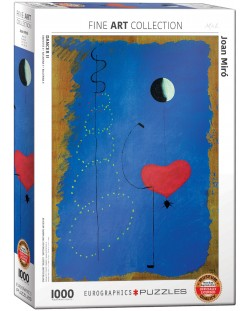 Puzzle Eurographics de 1000 piese – Balerina in albastru, Joan Miro