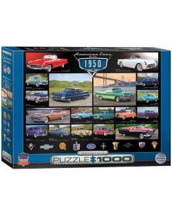 Puzzle Eurographics de 1000 piese – Autoturisme clasice din anul 1950