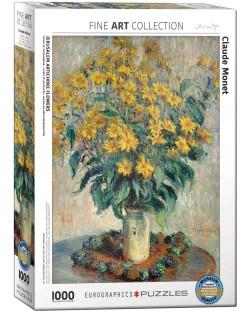 Puzzle Eurographics de 1000 piese – Topinamburul, Claude Monet