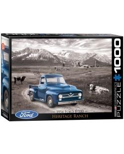 Puzzle Eurographics de 1000 piese – Autoturisme clasice  Ford din anul 1954