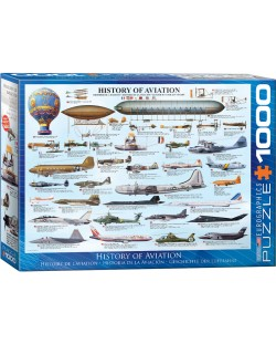 Puzzle Eurographics de 1000 piese – History of Aviation
