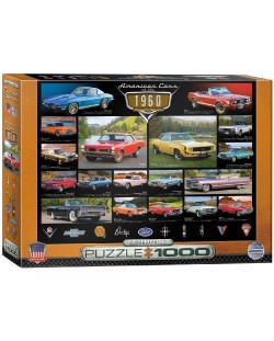 Puzzle Eurographics de 1000 piese – Autoturisme clasice din anul 1960