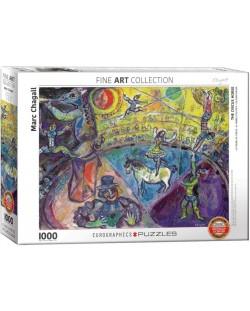 Puzzle Eurographics de 1000 piese – La circ, Mark Chagall
