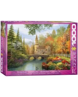 Puzzle Eurographics de 1000 piese – Biserica toamna, Dominic Davison