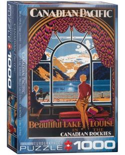 Puzzle Eurographics de 1000 piese –  Canadian Pacific, Frumosul lac Louis