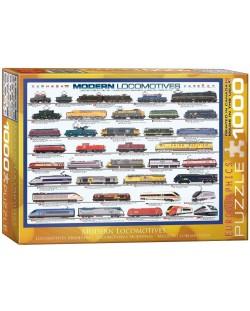 Puzzle Eurographics de 1000 piese – Locomotive contemporane