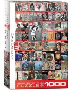 Puzzle Eurographics de 1000 piese – Colaj retro pe copertile revistei LIFE