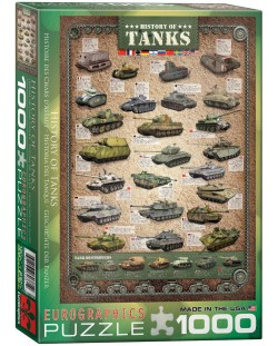 Puzzle Eurographics de 1000 piese – Istoria tancurilor