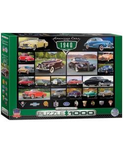 Puzzle Eurographics de 1000 piese – Autoturisme clasice din anul 1940