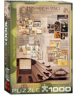 Puzzle Eurographics de 1000 piese – Geniul lui Leonardo da Vinci