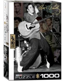 Puzzle Eurographics de 1000 piese – Colaj cu pozele lui Elvis Presley