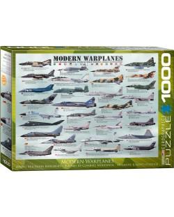 Puzzle Eurographics de 1000 piese – Avioane militare moderne
