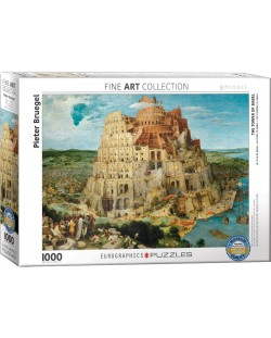 Puzzle Eurographics de 1000 piese – Turnul Babel, Pieter Brueghel cel Batran