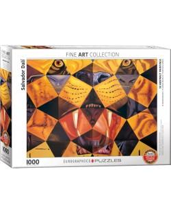 Puzzle Eurographics de 1000 piese – Tigru, Salvador Dali