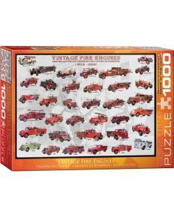Puzzle Eurographics de 1000 piese – Camioane de pompieri antice