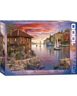 Puzzle Eurographics de 1000 piese - Port mediteranean, Dominic Davison