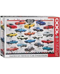 Puzzle Eurographics de 1000 piese – Dezvoltarea autoturismelor puternice din America