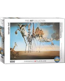 Puzzle Eurographics de 1000 piese - Ispita Sfantului Anton, Salvador Dali