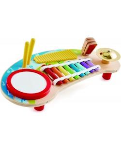 Masa muzicala pentru copii Hape - 5 instrumente muzicale, din lemn