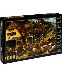 Puzzle D-Toys de 1000 piese – Proverbe olandeze, Pieter Bruegel