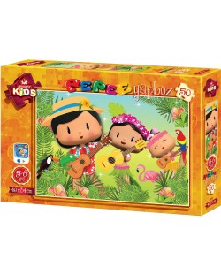 Puzzle Art Puzzle de 50 piese - Pepee's Forest Musical