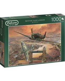 Puzzle Jumbo de 1000 piese - Avioane de vanatoare peste Londra, Jim Mitchell