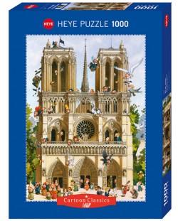 Puzzle Heye de 1000 piese - Sa traiasca Notre Dame!, Jean-Jaques Loup