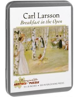 Puzzle Pomegranate de 100 piese - Mic dejun in aer liber, Carl Larsson