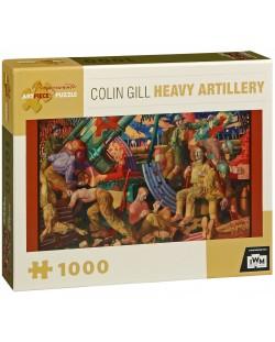 Puzzle Pomegranate de 1000 piese - Artilerie grea, Colin Gill