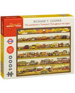 Puzzle Pomegranate de 1000 piese - Transportul Londrei, Richard Cooper