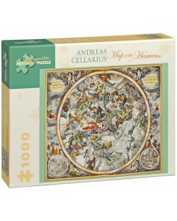 Puzzle Pomegranate de 1000 piese - Harta cerurilor, Andreas Cellarius