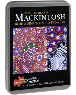 Puzzle Pomegranate de 100 piese - Flori de tutun, Charles Mackintosh
